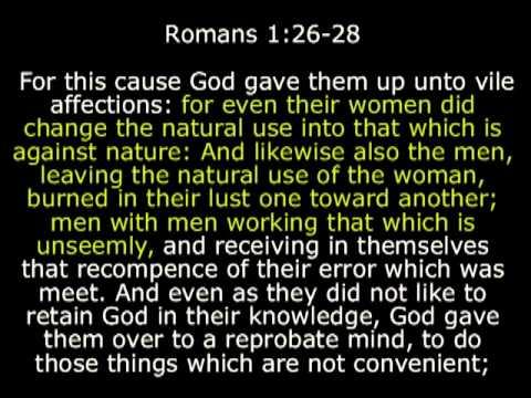reprobate Rom 1:26-28